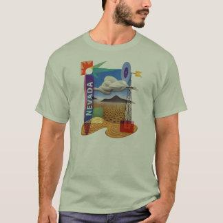 Vintage 40's Nevada Las Vegas Illustration T-Shirt