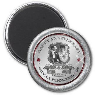 Vintage 40th Anniversary 2 Inch Round Magnet