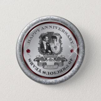 Vintage 40th Anniversary ID195 Button