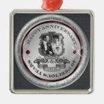 Vintage 40th Anniversary ID195 Metal Ornament