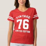 Vintage 40th Birthday 1976 Womens Jersey T-Shirt