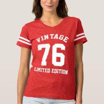 Vintage 40th Birthday 1976 Womens Jersey T-Shirt