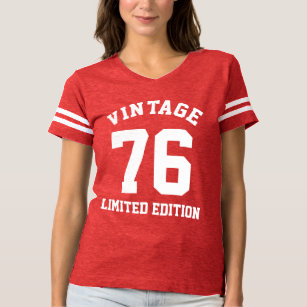 Vintage 40th Birthday 1976 Womens Jersey T Shirt
