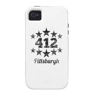 Vintage 412 Pittsburgh iPhone 4/4S Cases
