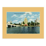 Vintage 41st street Bridge, hotels Miami Beach Postcard