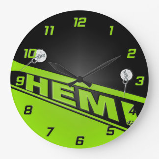Vintage 426 Hemi Design Clock green