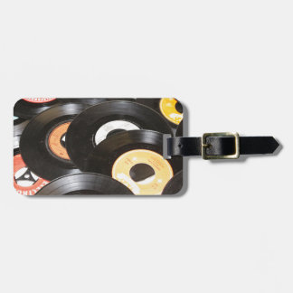 Vintage 45rpm Records Bag Tag
