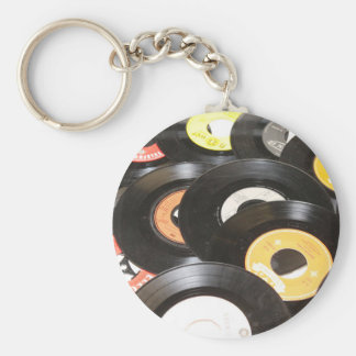 Vintage 45rpm Records Keychain