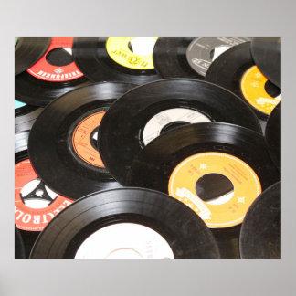 Vintage 45rpm Records Poster