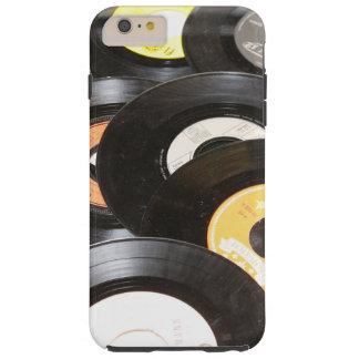 Vintage 45rpm Records Tough iPhone 6 Plus Case