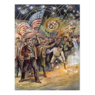 vintage 4 de julio tarjetas postales