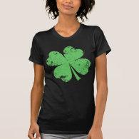 'Vintage' 4-leaf Clover T Shirts