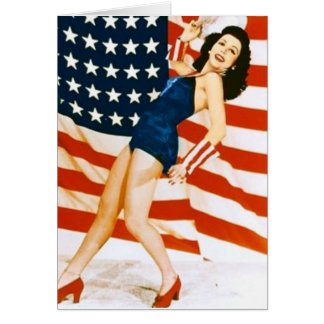 Vintage 4 th of July Pinup Card