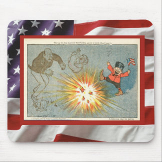 Vintage 4th July celebration, Firecrackers Mouse Pad