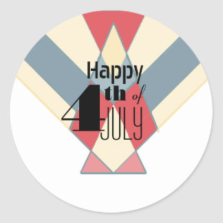Vintage 4th of July Banner | Party Stickers