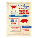Vintage 4th of July BBQ Invitation