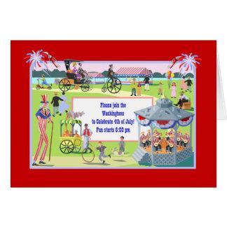 Vintage 4th of July Celebration Stationery Note Card