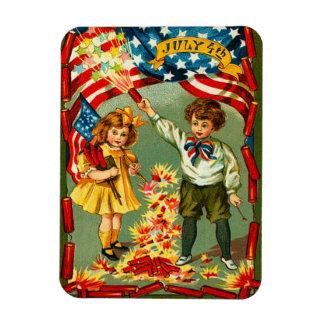 Vintage 4th of July Fireworks Magnet