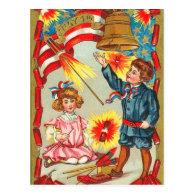 Vintage 4th of July Fireworks Post Cards