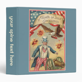 Vintage 4th of July Fireworks with Uncle Sam Vinyl Binders