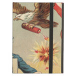 Vintage 4th of July Fireworks with Uncle Sam iPad Air Cases