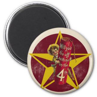 Vintage 4th of July Fridge Magnet