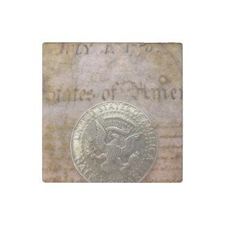 vintage 4th of july stone magnet