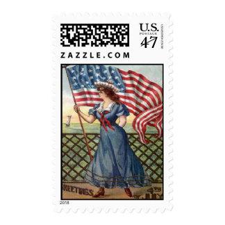 vintage 4th of July Postage