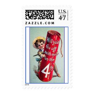 Vintage 4th Of July Postage Stamps