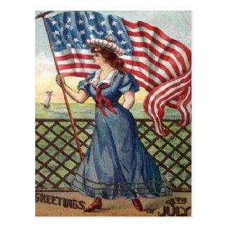 vintage 4th of July Postcard