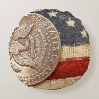 vintage 4th of july round pillow
