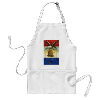 Vintage 4th of July with Eagle and Liberty Bell Adult Apron