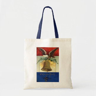 Vintage 4th of July with Eagle and Liberty Bell Tote Bag