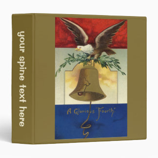 Vintage 4th of July with Eagle and Liberty Bell Vinyl Binder