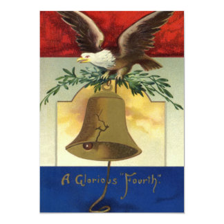 Vintage 4th of July with Eagle and Liberty Bell Card