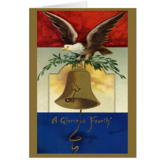 Vintage 4th of July with Eagle and Liberty Bell Cards