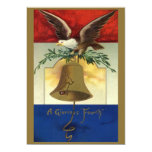 """Vintage 4th of July with Eagle and Liberty Bell 5"""" X 7"""" Invitation Card"""
