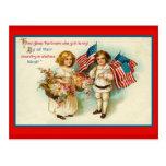 Vintage 4to de las tarjetas de felicitación de jul tarjeta postal