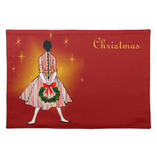 Vintage 50s Christmas Girl Placemat