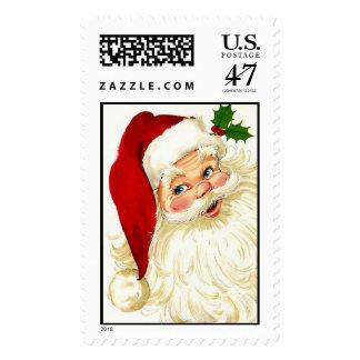 Vintage 50's Christmas Santa Postage