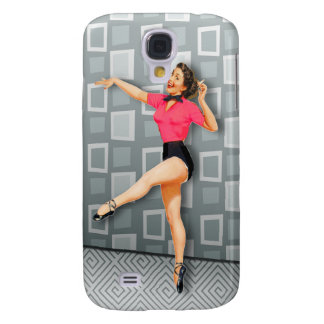 Vintage 50s Dancing Pinup Girl Galaxy S4 Case