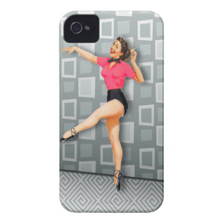 Vintage 50s Dancing Pinup Girl iPhone 4 Case