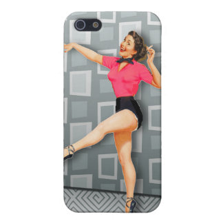 Vintage 50s Dancing Pinup Girl iPhone 5/5S Cases