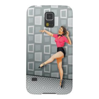 Vintage 50s Dancing Pinup Girl Retro Midcentury Ad Galaxy S5 Case