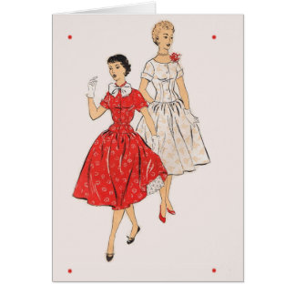 Vintage 50s Fashion note cards