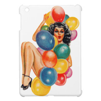Vintage 50s Pin Up Pinup Ballons Girl Kitsch iPad Mini Cases