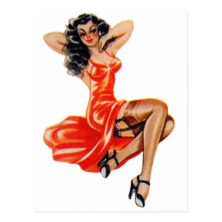 Vintage 50s Pin Up Pinup Girl Kitsch Veronica Post Cards
