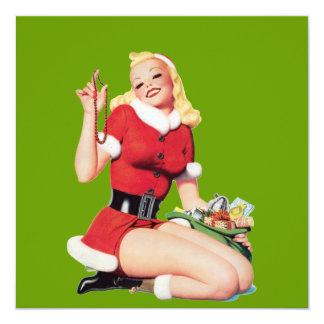 Vintage 50's Pinup Girl Card