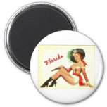 Vintage 50s Pirate Girl 2 Inch Round Magnet