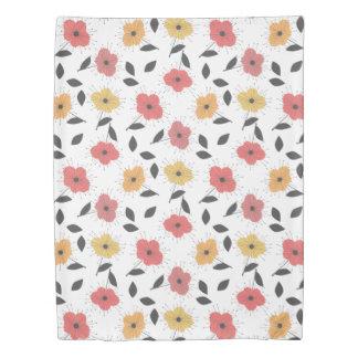 vintage 50s style florals duvet cover